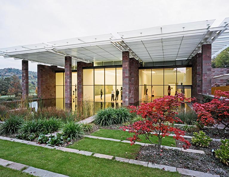 Сградата на музея проектирана от Рензо Пиано