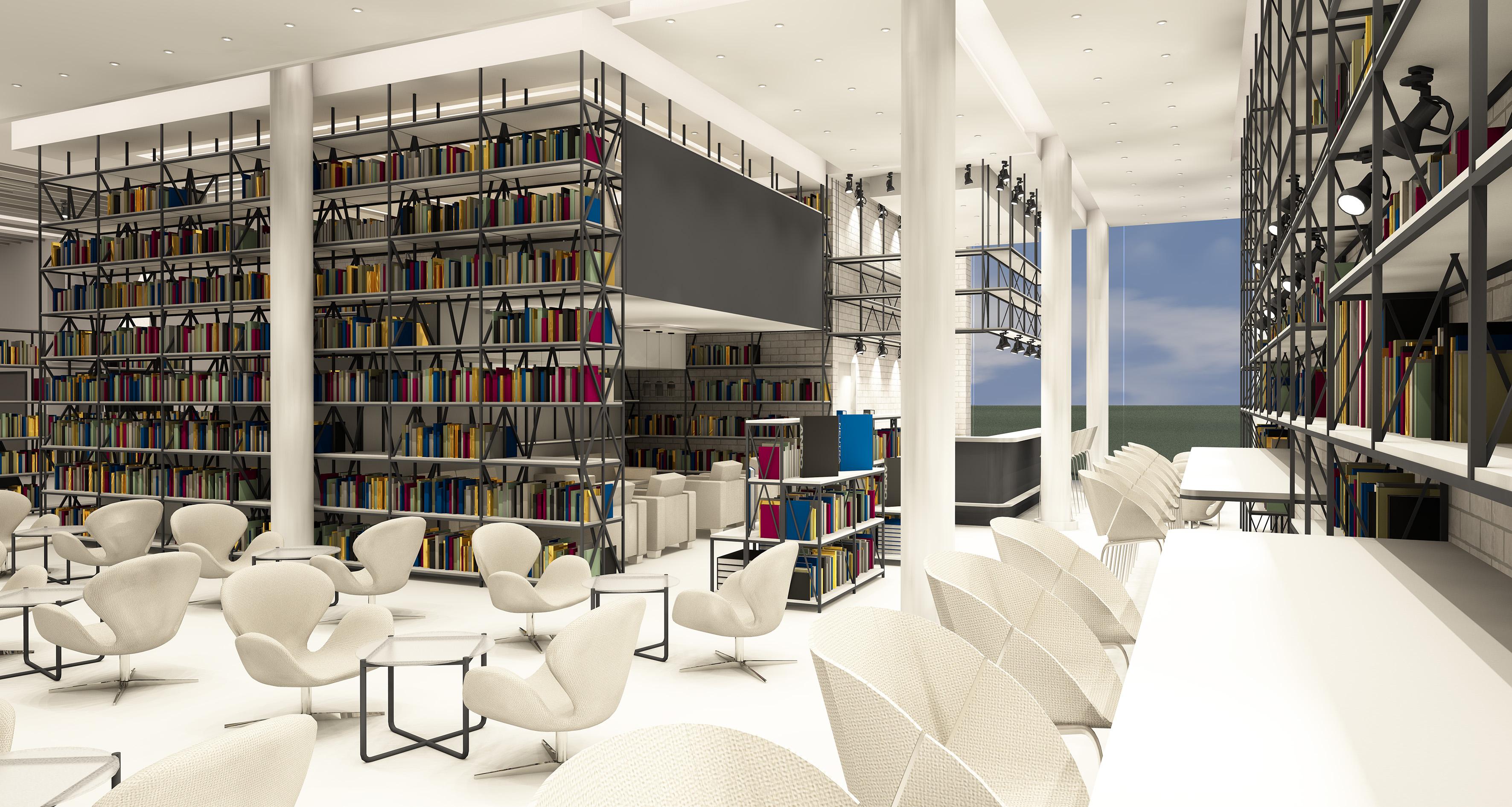 Интериор 4 кафе-книжарница