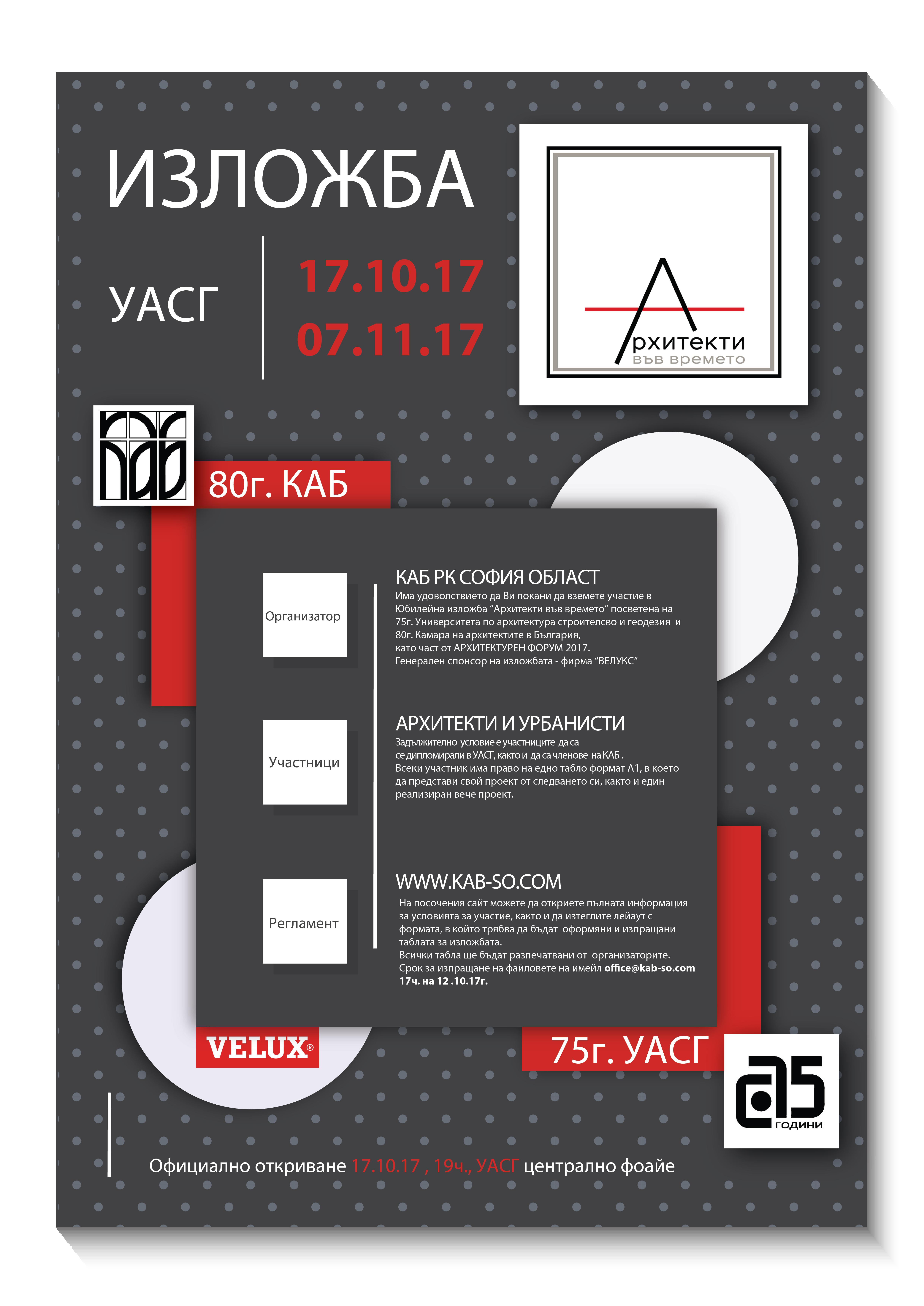 Posters_Изложба Архитекти във времето